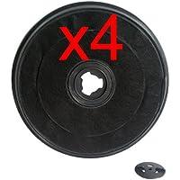 ROBLIN - LOT DE 4 FILTRES A CHARBON ROND HOTTE ROBLIN-FRANKE 5403003 - 4FILTRES5403003