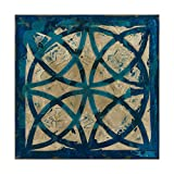 Trademark Fine Art Stained Glass Indigo IV by Megan Meagher, 18x18-Inch, 18x18,