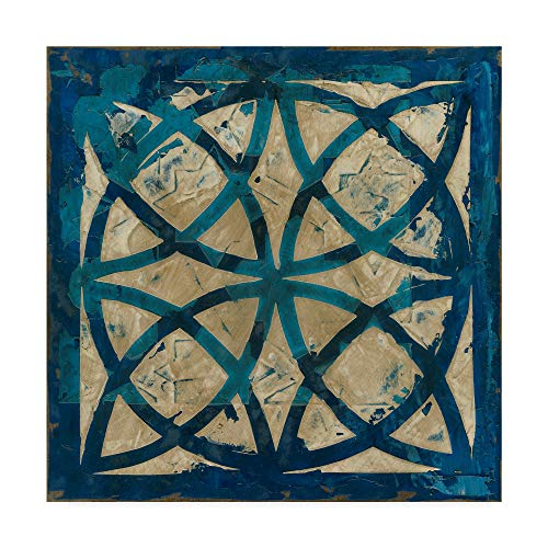 Trademark Fine Art Stained Glass Indigo IV by Megan Meagher, 24x24-Inch 24x24 (Art Fine Glass Stained)