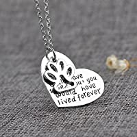 New Dog Love Heart Silver Plated Chain Pendant Necklace Jewelry Gift