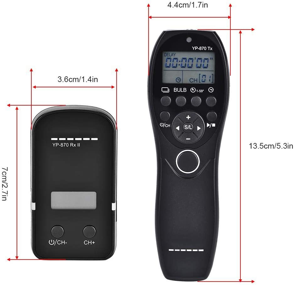 Acouto Wireless Flash Trigger Time Shutter Remote Trigger Transmitter Receiver with Hot Shot for DSLR Cameras N3