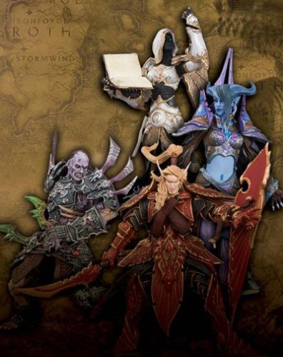 World of Warcraft Series 3 Action Figure Set of 4 (Human Priestess, Draenei Mage, Undead Rogue, Blood Elf Paladin)