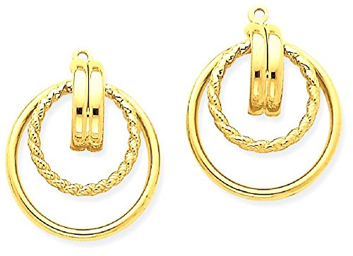 ICE CARATS 14k Yellow Gold Twisted Ear Jacket Earring Jackets For Studs by ICE CARATS