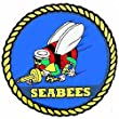 """U.S. Navy Seabees Sticker 3-1/4"""" by FindingKing"""