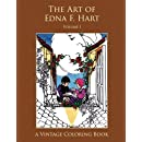 The Art of Edna F. Hart Vintage Coloring Book