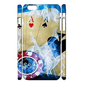 Durable 3D Hard Plastic Cover Fit iPhone 6 Plus/6s Plus 5.5 Inch,Visual Cute Playing Cards Printed Phone Case Snap on iPhone 6 Plus/6s Plus 5.5 Inch