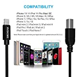 USB 2.0 MIDI Cable, RVOKOMS Premium Type-B to