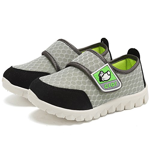 CIOR Kid's Mesh Lightweight Sneakers Baby Breathable Slip-On For Boy and Girl's Running Beach Shoes(Toddler/Little Kid) 26