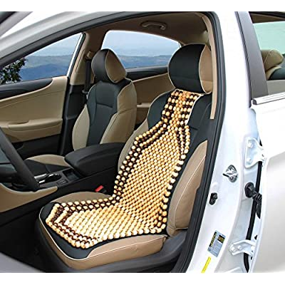 Zento Deals Wood Beaded Comfort Seat Cushion Seat Cover: Automotive
