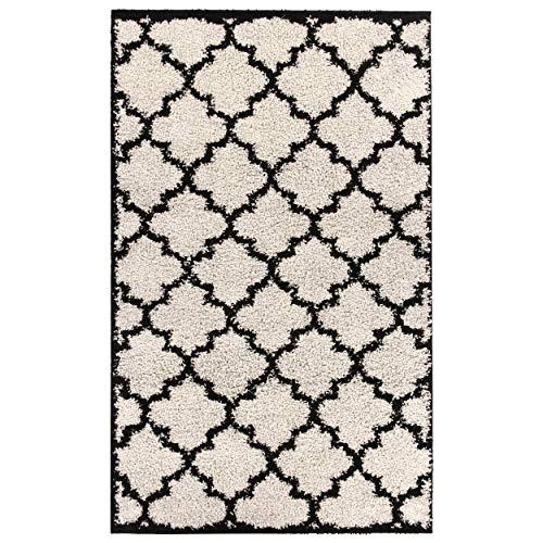 Safavieh Soho Collection SOH921A Handmade Modern Abstract Black and Multi Premium Wool Runner 2 6 x 12