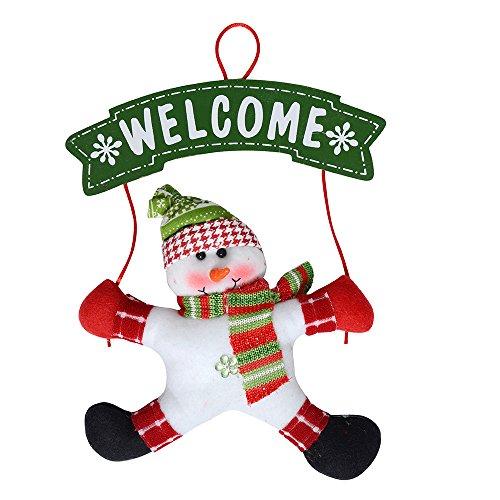 Snowman Hanging (Christmas Wreath Christmas Snowman Party Door Decoration Christmas Door Hanging Home Shop Decoration (Snowman))