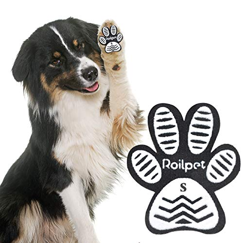 Roilpet Paw Pads for Dogs Traction – Provide Your Dog with Anti-Slip Grips from Slipping on Hardwood Floors, Especially for Senior Breeds for Indoors Wear (S)