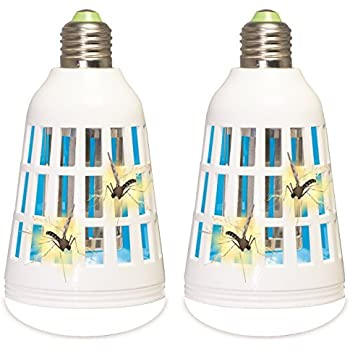 Ninja Bug Zapper, Mosquito and Insect Killer; Electric LED Light Bulb for Indoor and Outdoor Use, Portable Fly and Pest Trap w/ Blue Ultraviolet ...