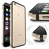 iPhone 6s Case, IFCASE Slim Aluminum Bumper(No Signal Reduce) TPU Inner Frame Dual Layer Shock Absorbing Phone Case for iPhone 6 / 6s (4.7 inch) Gold