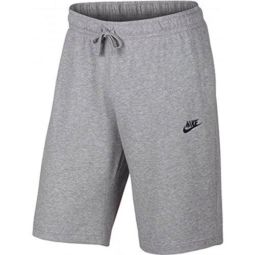 NIKE Men's Sportswear Jersey Club Shorts (S, Birch Heather/Black)