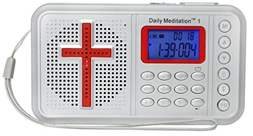 (Daily Meditation 1 AMP Audio Bible Player - Amplified Bible Electronic Bible (with Rechargeable Battery, Charger, Ear Buds and Built-in Speaker))