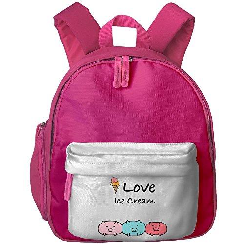Baby Toddler Pre School Backpack I Love Ice Cream Lovely Satchel Backpack Best For Kindergarten (Girly Recipe Box)