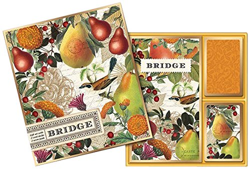 Michel Design Works Bridge Cards Gift Set, Golden Pear