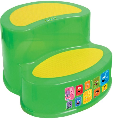 Sesame Street Two-Tier Step Stool, Green