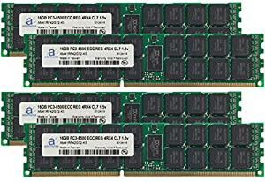 Adamanta 64GB (4x16GB) Server Memory Upgrade for Dell Poweredge R620 DDR3 1066Mhz PC3-8500 ECC Registered 4Rx4 CL7 1.5v