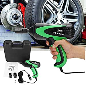 HITSAN 12V Portable Electric Impact Wrenche Emergency Roadside Car Power Kit Tools+Case One Piece