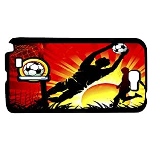 Soccer At Sunset Art Hard Snap on Phone Case (Note 2 II) by icecream design