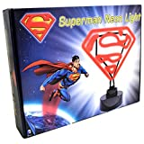 Retro Neon DC Comics Superman Light With Base