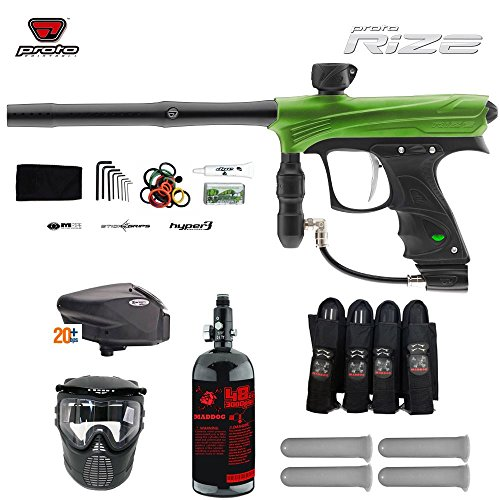 MAddog Proto Rize Expert Paintball Gun Package - Lime Dust