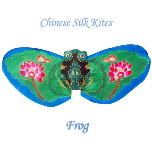 Gift-Boxed Green Frog Kite - Chinese Hand-Crafted Silk Kites