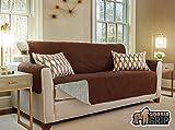 #4: Gorilla Grip Original Premium Micro-Suede Slip Resistant Slip-Cover Couch Protector, Furniture Cover Features Two 2