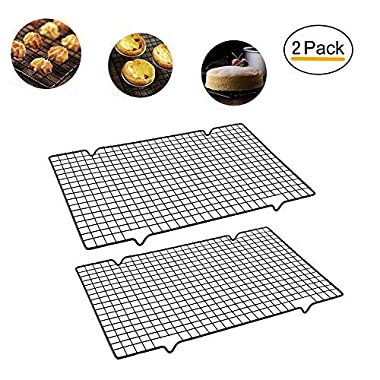 Enamel Cooling Rack Baking Rack Oven, Size 16''x10'',Thick Wire Heavy Duty Commercial Quality Wire Rack (2 PCS) (Quality Wire Rack)
