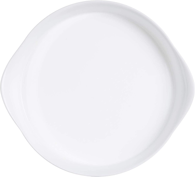 Luminarc 06975 Tarteform Smart Cuisine 28 cm runde Backform Backblech Obstkuchenform Backoffen Hartglas Mikrowellen-Sp/ülmaschinenfest wei/ß stapelbar modern