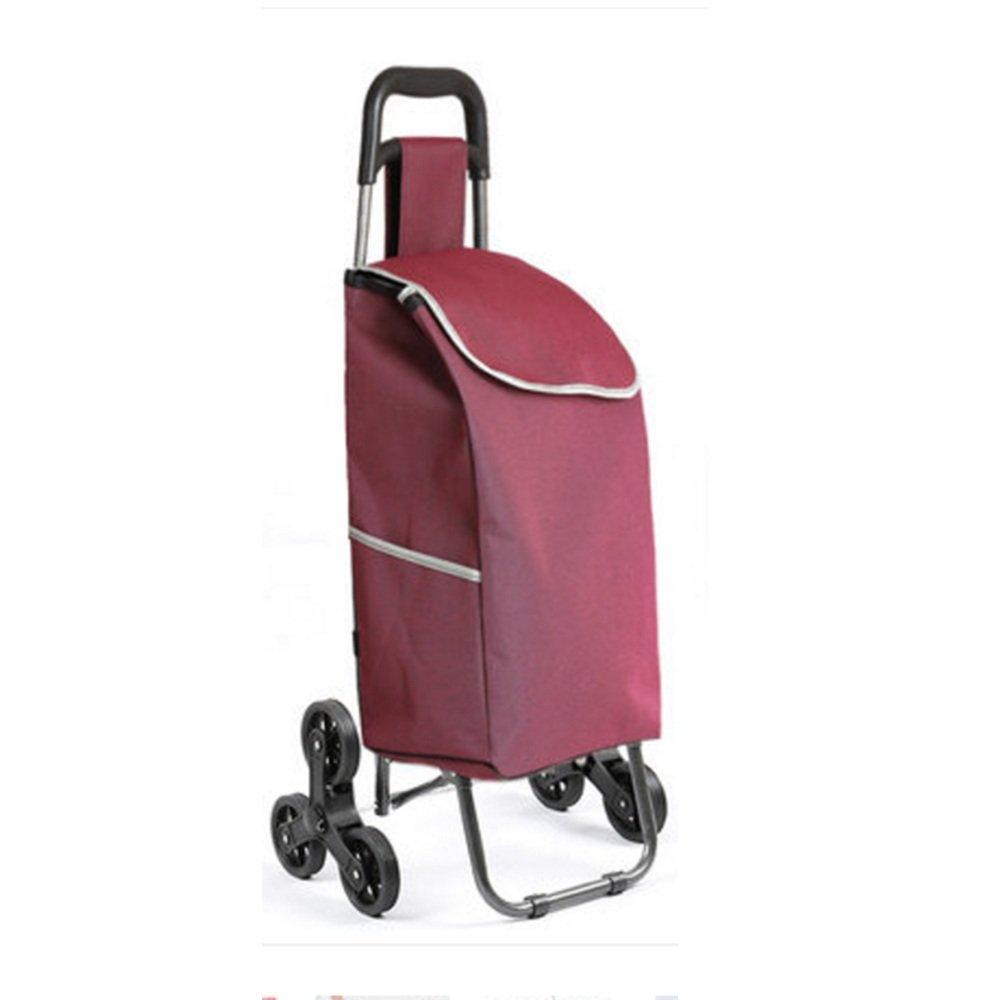 ハンドカート 折りたたみ軽量のショッピングトロリー頑丈で耐久ストレージ軽量と耐摩耗93 * 25 * 34センチメートル トロリー (色 : Purple) B07F7KLL71 Purple Purple