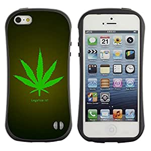Suave TPU GEL Carcasa Funda Silicona Blando Estuche Caso de protección (para) Apple Iphone 5 / 5S / CECELL Phone case / / Legalize Cannabis Hemp Weed Green Herbal /