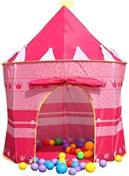 Puregadgets© Childrens Girls Fairy Princess Pink Pop Up Castle Play Tent Playhouse Suitable for indoor and outdoor use