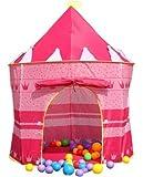 Pop Up Princess Castle Play Tent, GIM Kids Foldable Play Tent Castle Playhouse Garden Toys Boys Girls Children Outdoor Indoor (Pink)