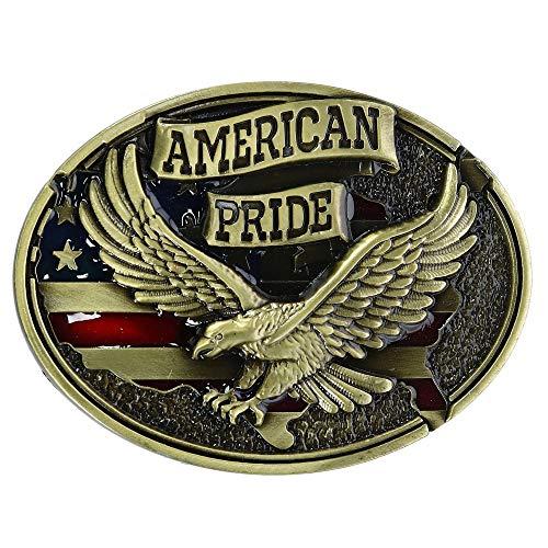 CTM Soaring Eagle American Pride Belt Buckle, Bronze ()