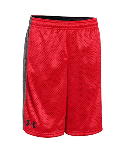 UPC 888284963354, Under Armour Boys' Dominate Shorts, Risk Red/Black, Youth Medium