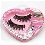 Charming Eyelashes , Natural Long Thick False Eyelashes Prettymenny (Black)