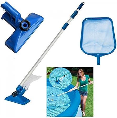 Kit de limpieza para piscina incluye mango telescópico, aspirador ...