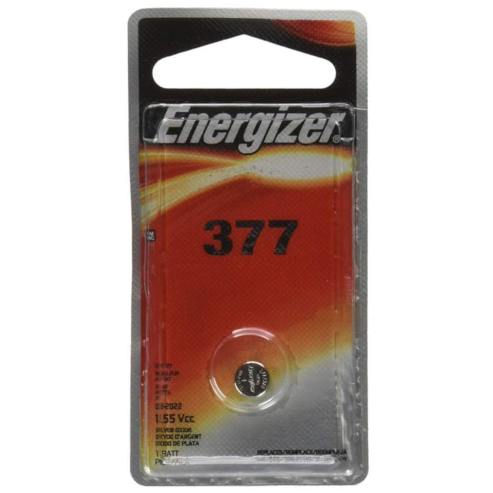 Amazon.com: Energizer 1.55 Vcc 377 Silver Oxide Battery: Health & Personal Care