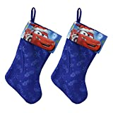 Set of 2 Lightning McQueen Christmas Stockings Disney Cars Holiday Decorations