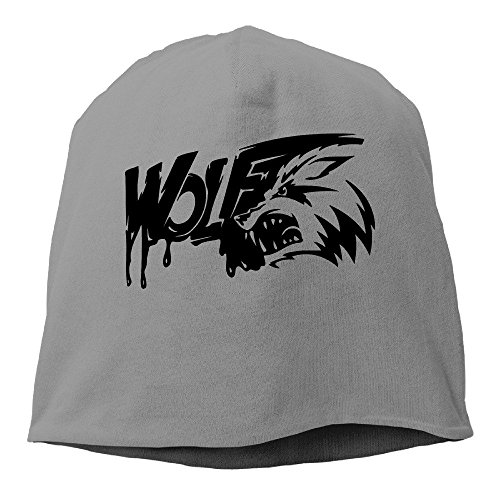 Fashion Design Wolf Face DeepHeather Hedging Knitted Hat Beanies Caps (Cap Trukfit)