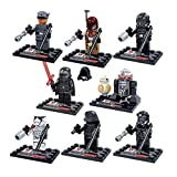 8 Pieces Star Wars LEGO Compatible Minifigures Minifig The Force Awakens Kylo Ren BB-8 R2-D2 Storm Flame Troopers Building Bricks Blocks Set Pack Bundle Early Learning Development Toys