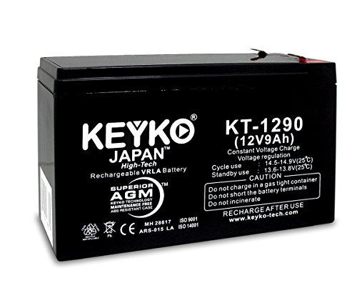 KEYKO ® Genuine KT-1290 12V 9Ah Battery SLA Sealed Lead Acid / AGM Replacement - F1 & F2 Terminal