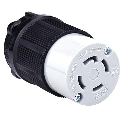 Cllena NEMA L14-30 Plug, 3 Pole 4 Wire, 30 Amp 125/250 Volt, 4 Prong on