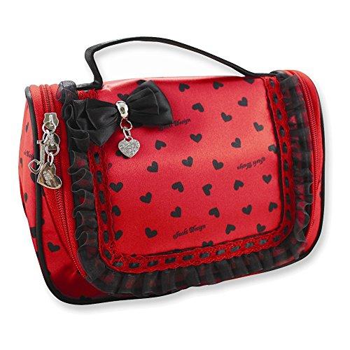 Glitzy Hearts Travel/Cosmetic Bag w/Hanger Heart Italian Bag