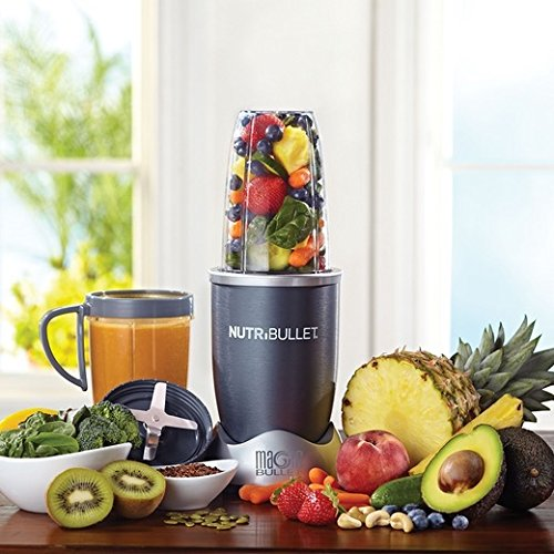 Juice blender. NutriBullet NBR-1201 12-Piece High-Speed Blender/Mixer System, Gray (600 Watts)