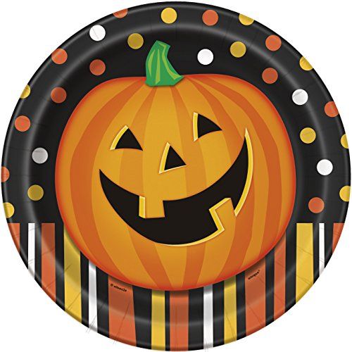 Smiling Pumpkin Halloween Dinner Plates, 8ct ()