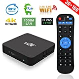 Android 7.1 TV Box 3GB RAM 16GB ROM Amlogic Octa Core Smart TV Box 64 Bit Bluetooth 4.1 4K 3D H.265 Dual Band WiFi 2.4GHz/5GHz 1000M LAN U2C X Turbo Media Player